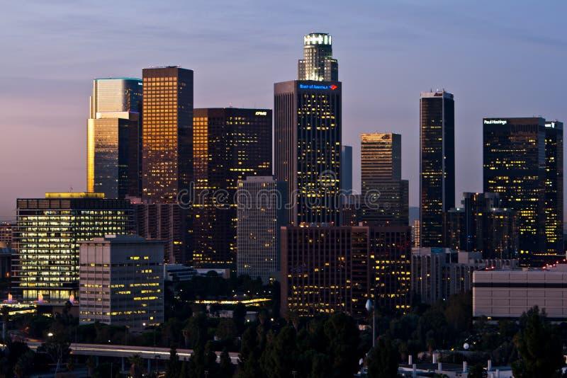 ορίζοντας αυγής Los της Angeles σύ&nu στοκ φωτογραφίες με δικαίωμα ελεύθερης χρήσης