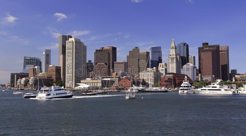 Ορίζοντας και λιμάνι της Βοστώνης στοκ εικόνα