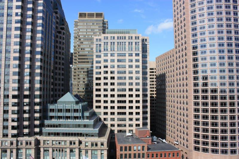 ορίζοντας λεπτομέρειας της Βοστώνης στοκ εικόνες