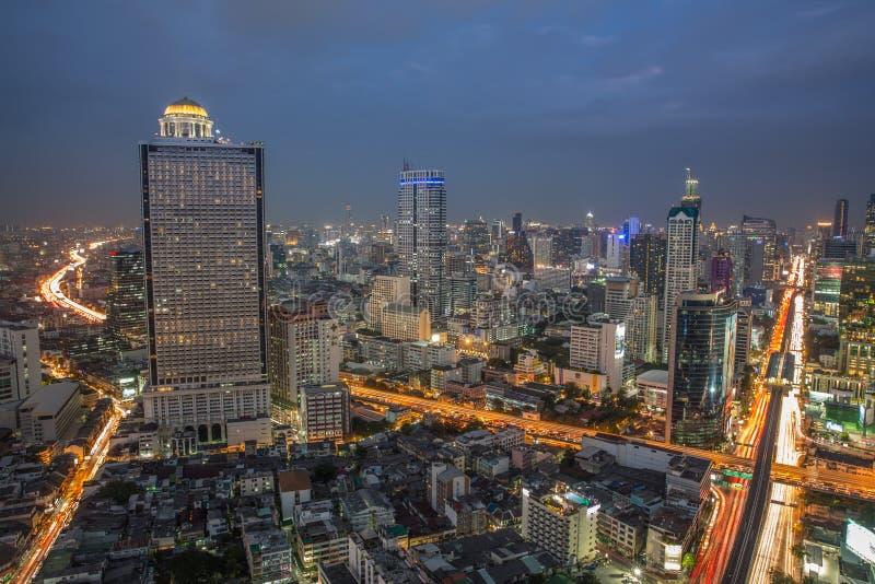 Ορίζοντας νύχτας της Μπανγκόκ στοκ εικόνα με δικαίωμα ελεύθερης χρήσης