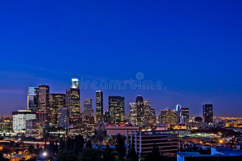 ορίζοντας νύχτας της Angeles Los στοκ φωτογραφία με δικαίωμα ελεύθερης χρήσης