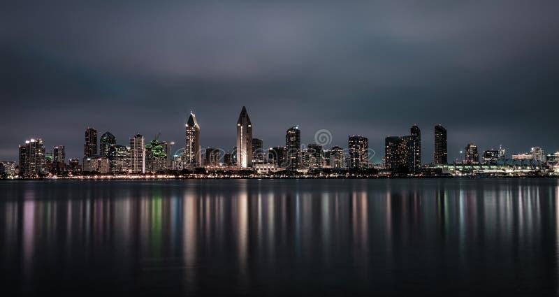 Ορίζοντας νύχτας του Σαν Ντιέγκο κεντρικός, Καλιφόρνια στοκ φωτογραφία με δικαίωμα ελεύθερης χρήσης
