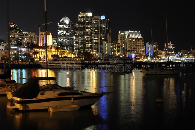 ορίζοντας νύχτας SAN του Diego στοκ φωτογραφία με δικαίωμα ελεύθερης χρήσης