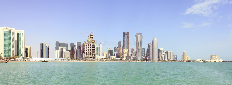 ορίζοντας πανοράματος doha στοκ φωτογραφίες με δικαίωμα ελεύθερης χρήσης