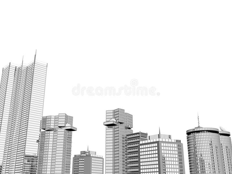 ορίζοντας πόλεων ανασκόπ&eta ελεύθερη απεικόνιση δικαιώματος