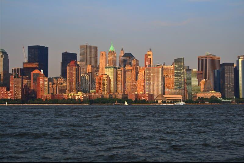 Ορίζοντας πόλεων της Νέας Υόρκης Δωρεάν Στοκ Εικόνα