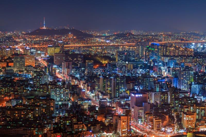 Ορίζοντας πόλεων της Σεούλ στοκ φωτογραφία με δικαίωμα ελεύθερης χρήσης