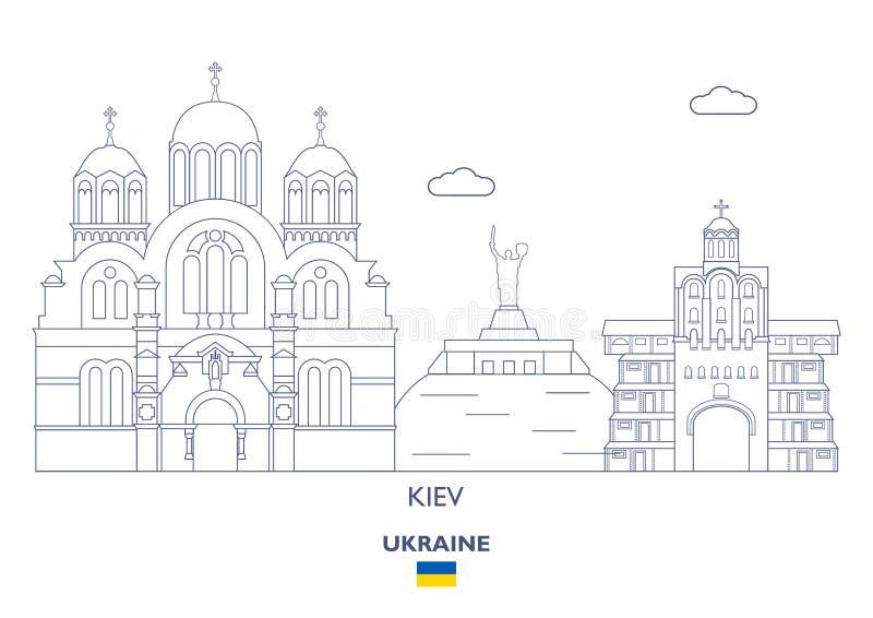 Ορίζοντας πόλεων του Κίεβου, Ουκρανία διανυσματική απεικόνιση