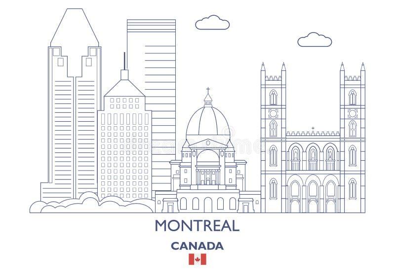 Ορίζοντας πόλεων του Μόντρεαλ, Καναδάς απεικόνιση αποθεμάτων