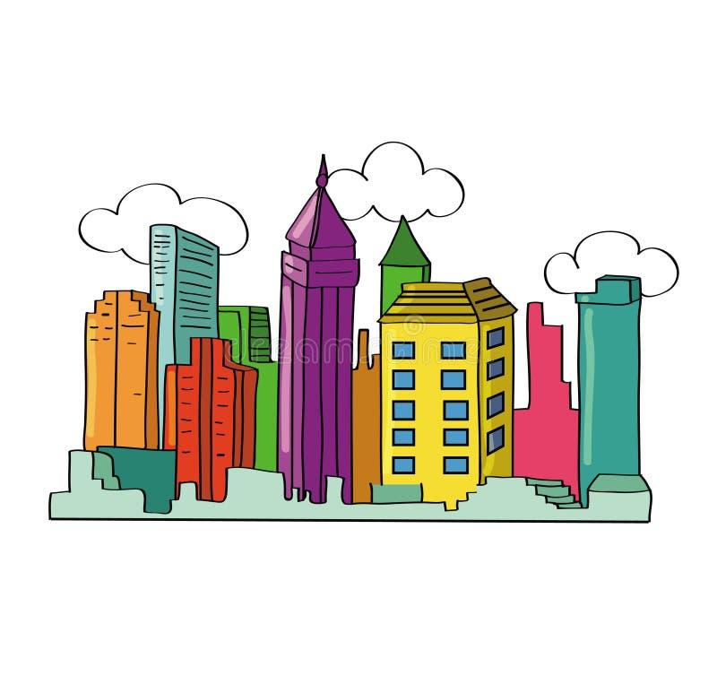 Download ορίζοντας πόλεων διανυσματική απεικόνιση. εικονογραφία από ουρανοξύστης - 22793075