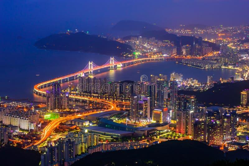 Ορίζοντας πόλεων Busan στοκ φωτογραφία με δικαίωμα ελεύθερης χρήσης