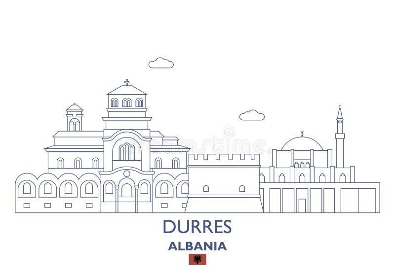 Ορίζοντας πόλεων Durres, Αλβανία ελεύθερη απεικόνιση δικαιώματος