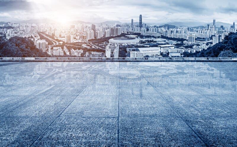 Ορίζοντας πόλεων της Κίνας Shenzhen στοκ εικόνα με δικαίωμα ελεύθερης χρήσης