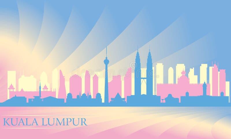 Ορίζοντας πόλεων της Κουάλα Λουμπούρ διανυσματική απεικόνιση