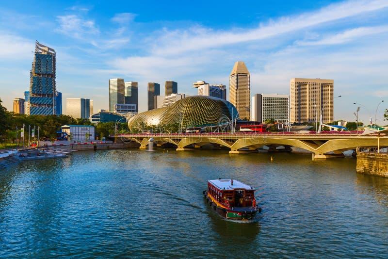 Ορίζοντας πόλεων της Σιγκαπούρης στοκ εικόνες με δικαίωμα ελεύθερης χρήσης