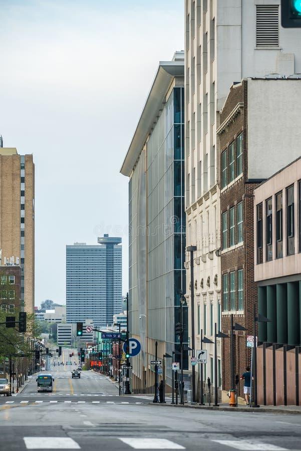 Ορίζοντας πόλεων του Κάνσας στην ανατολή στοκ εικόνες με δικαίωμα ελεύθερης χρήσης
