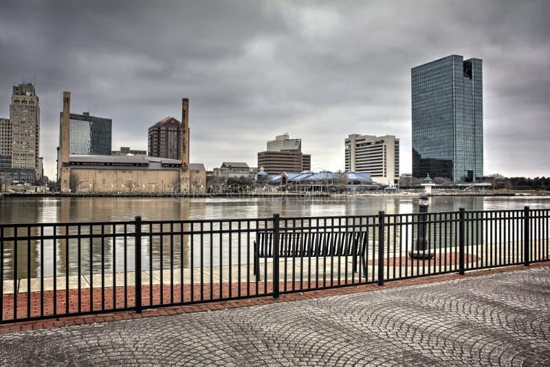 Ορίζοντας πόλεων του Τολέδο Οχάιο στοκ εικόνα με δικαίωμα ελεύθερης χρήσης