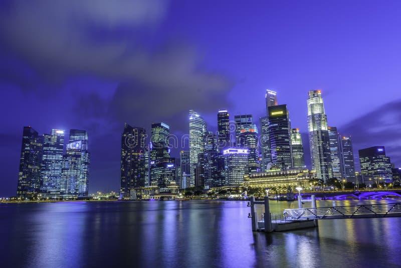 ορίζοντας Σινγκαπούρης ν στοκ φωτογραφίες
