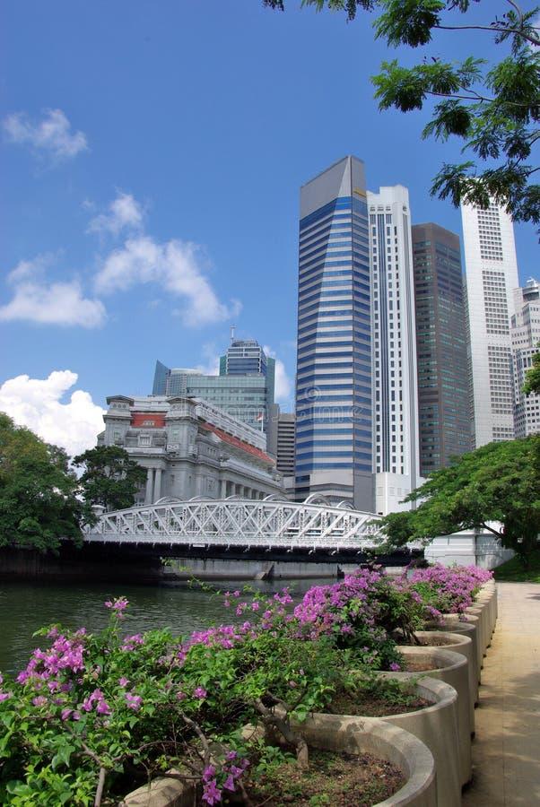 ορίζοντας Σινγκαπούρης πόλεων στοκ εικόνα με δικαίωμα ελεύθερης χρήσης