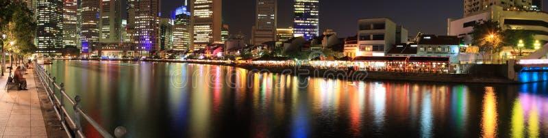 ορίζοντας Σινγκαπούρης π στοκ φωτογραφία