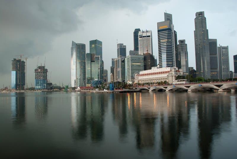 ορίζοντας Σινγκαπούρης π στοκ φωτογραφία με δικαίωμα ελεύθερης χρήσης