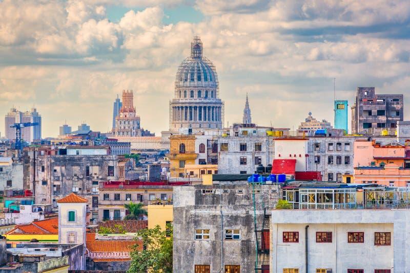 Ορίζοντας της Αβάνας, Κούβα στοκ εικόνα