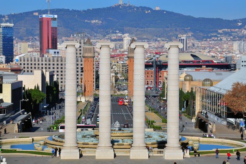 Ορίζοντας της Βαρκελώνης στοκ εικόνες με δικαίωμα ελεύθερης χρήσης