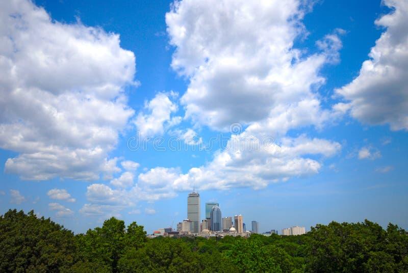 ορίζοντας της Βοστώνης γ&om στοκ φωτογραφία