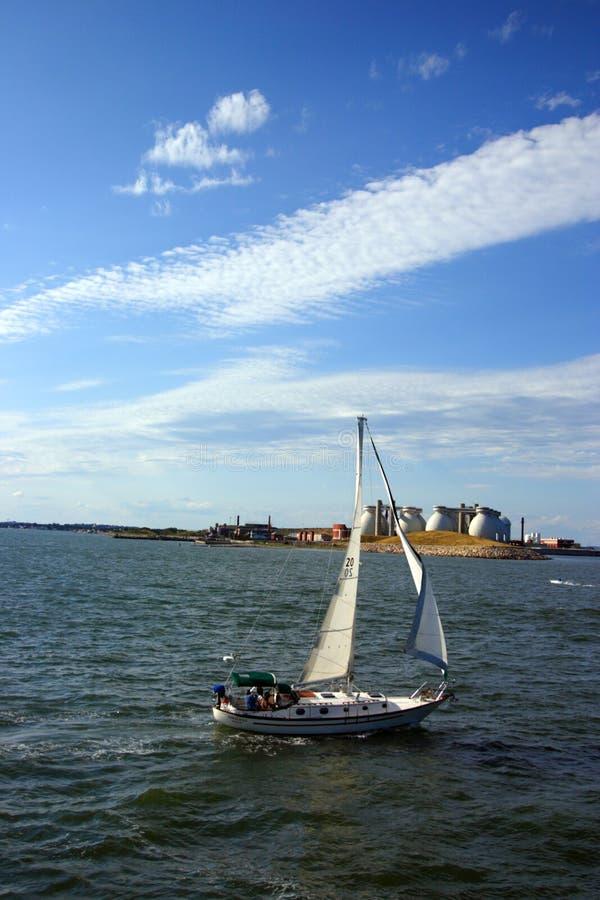 Ορίζοντας της Βοστώνης, εσωτερικό λιμάνι, ΗΠΑ στοκ εικόνες