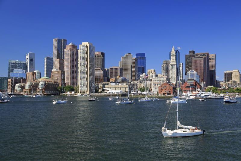Ορίζοντας της Βοστώνης, ΗΠΑ στοκ εικόνα με δικαίωμα ελεύθερης χρήσης