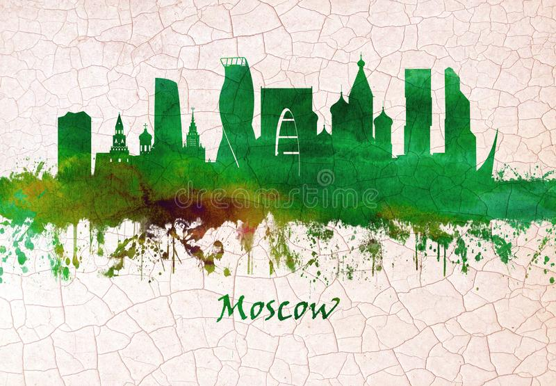 Ορίζοντας της Μόσχας Ρωσία ελεύθερη απεικόνιση δικαιώματος