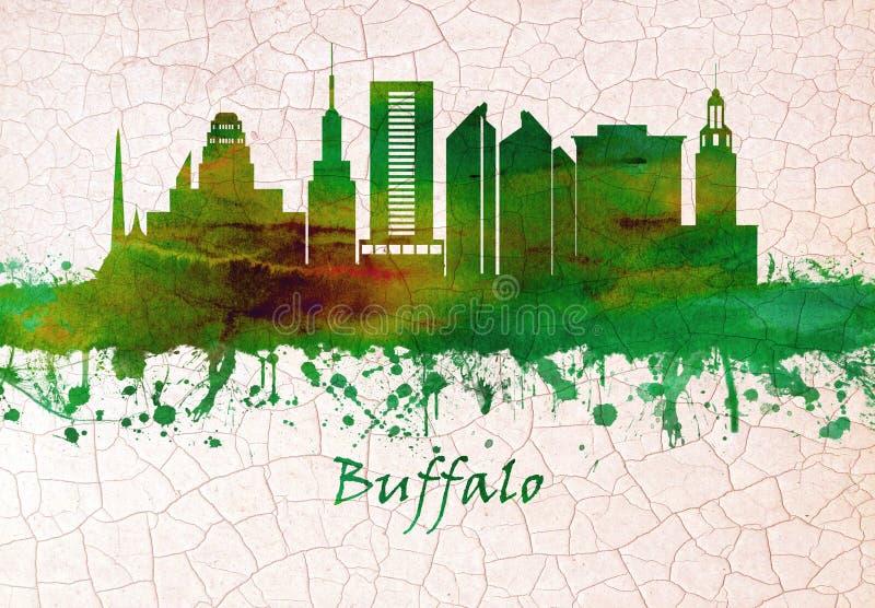 Ορίζοντας της Νέας Υόρκης Buffalo διανυσματική απεικόνιση