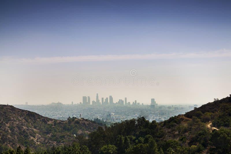 Ορίζοντας της πόλης του Λος Άντζελες στοκ φωτογραφία με δικαίωμα ελεύθερης χρήσης