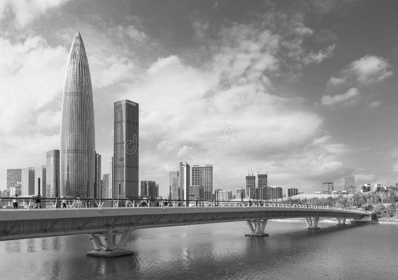 Ορίζοντας της πόλης Shenzhen, Κίνα στοκ εικόνα