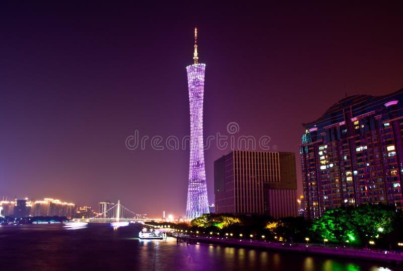 Ορίζοντας της πόλης τη νύχτα στοκ φωτογραφίες με δικαίωμα ελεύθερης χρήσης