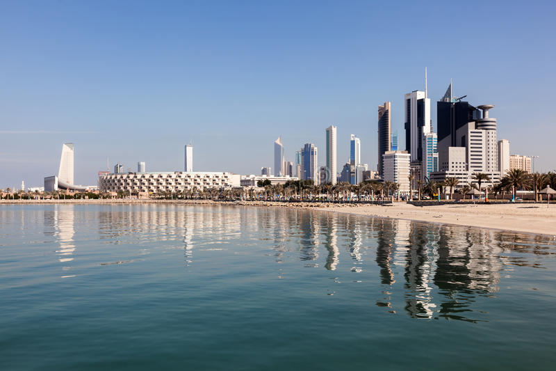 Ορίζοντας της πόλης του Κουβέιτ στοκ εικόνες με δικαίωμα ελεύθερης χρήσης