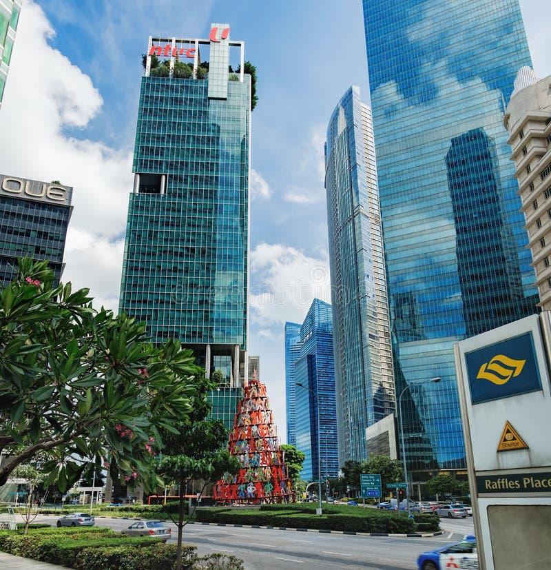 Ορίζοντας της Σιγκαπούρης που βρίσκεται κοντά στη θέση λοταριών στοκ εικόνες