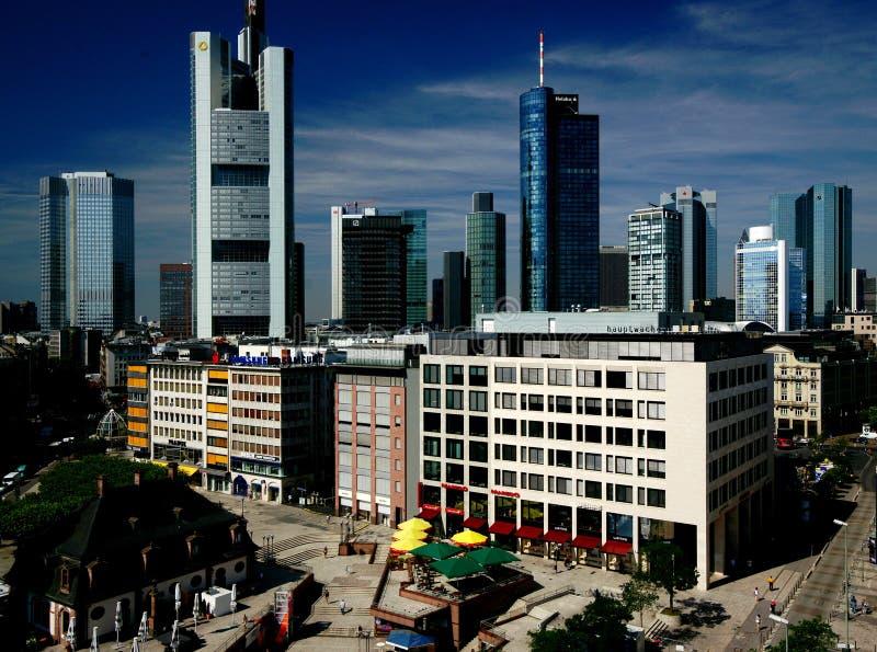 Ορίζοντας της Φρανκφούρτης στοκ φωτογραφία με δικαίωμα ελεύθερης χρήσης