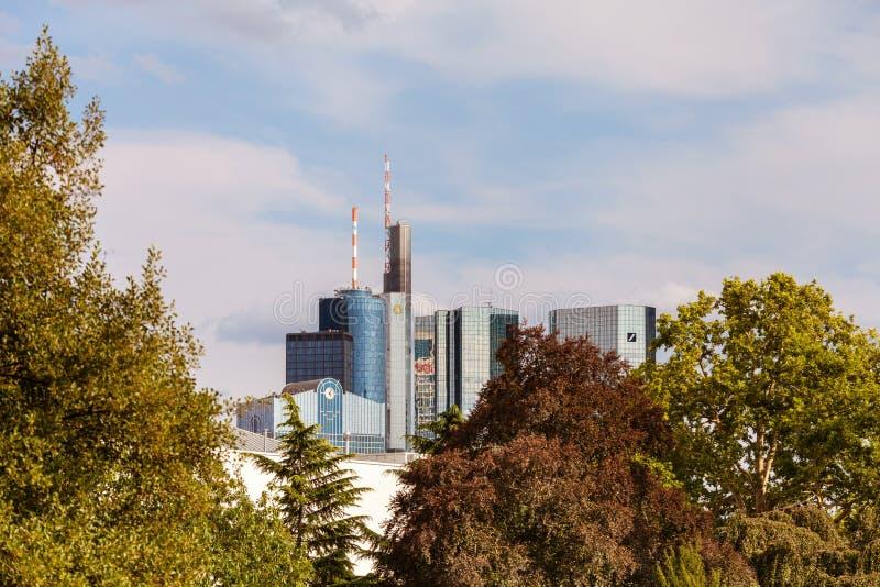 ορίζοντας της Φρανκφούρτ&et στοκ φωτογραφία με δικαίωμα ελεύθερης χρήσης
