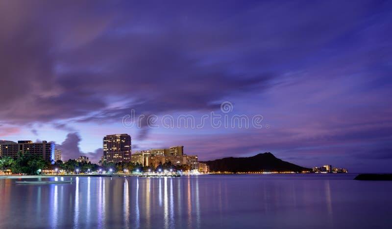 Ορίζοντας της Χαβάης στην ανατολή στοκ φωτογραφία με δικαίωμα ελεύθερης χρήσης