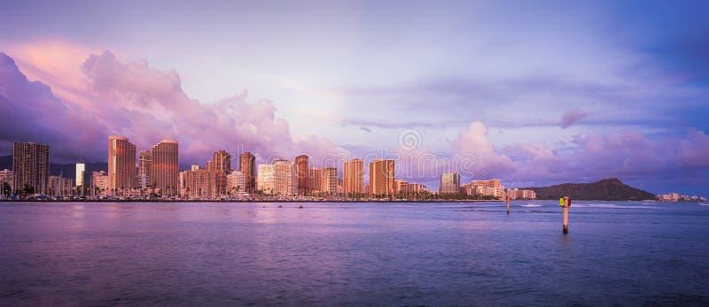 Ορίζοντας της Χαβάης στο ηλιοβασίλεμα στοκ εικόνα με δικαίωμα ελεύθερης χρήσης