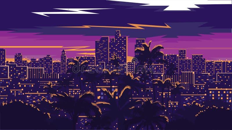 ορίζοντας της Angeles Los ελεύθερη απεικόνιση δικαιώματος