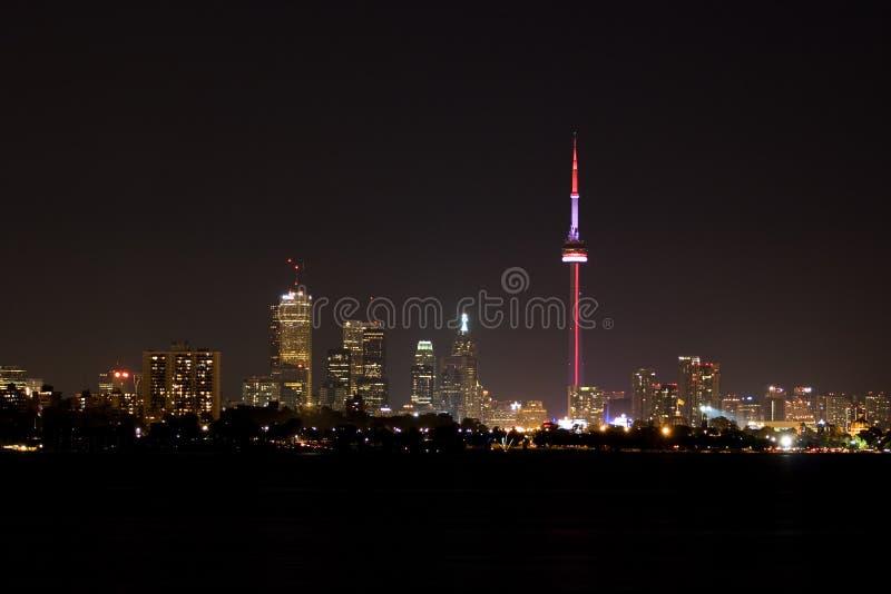 ορίζοντας Τορόντο νύχτας στοκ φωτογραφία με δικαίωμα ελεύθερης χρήσης