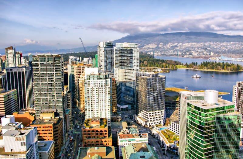 Ορίζοντας του Βανκούβερ, εναέρια άποψη, Βρετανική Κολομβία στοκ φωτογραφίες με δικαίωμα ελεύθερης χρήσης