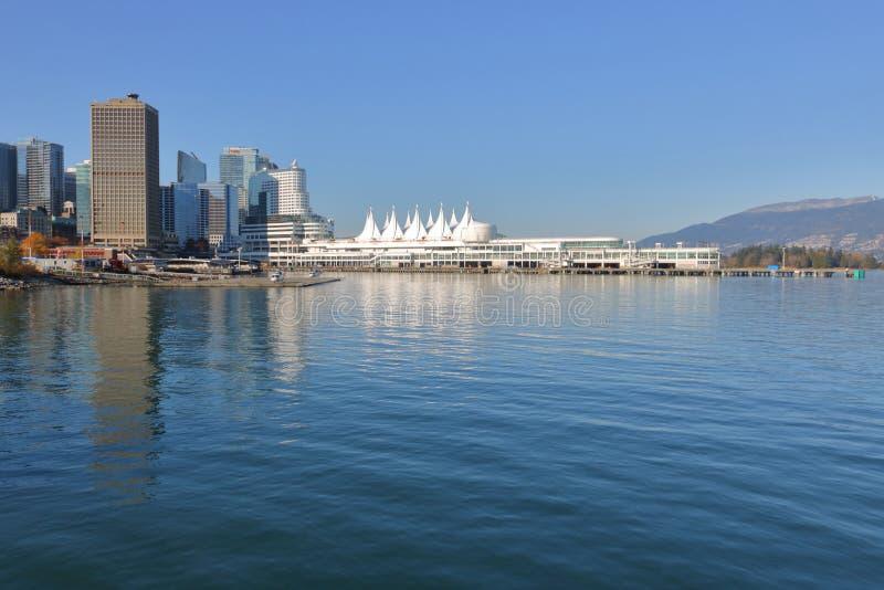 Ορίζοντας του Βανκούβερ, του Καναδά και πόλεων στοκ εικόνα με δικαίωμα ελεύθερης χρήσης