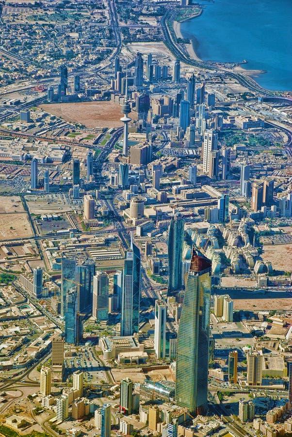 ορίζοντας του Κουβέιτ πό&l στοκ εικόνες
