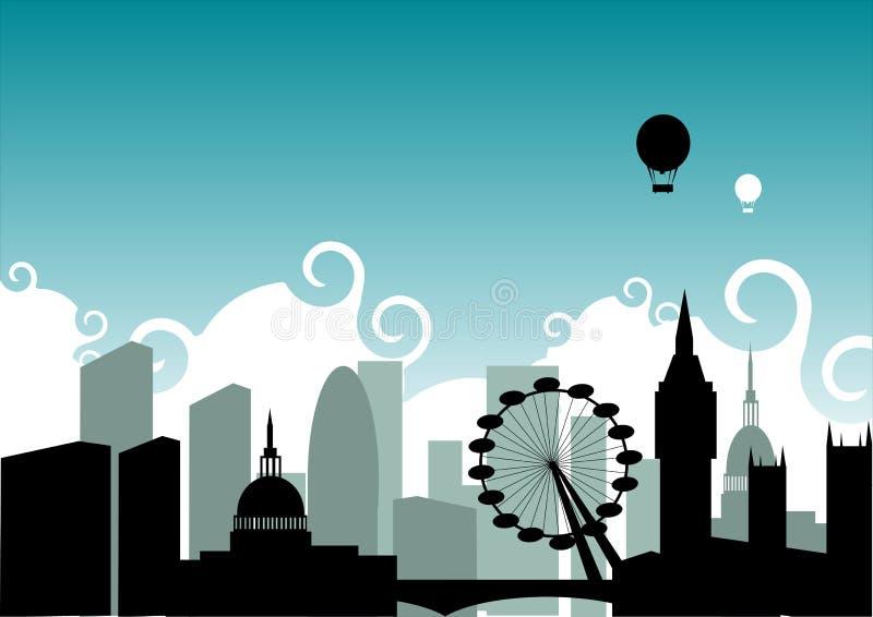 ορίζοντας του Λονδίνου διανυσματική απεικόνιση