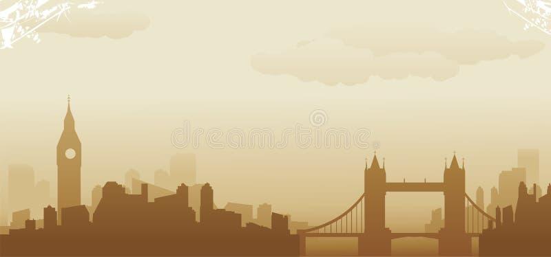 Ορίζοντας του Λονδίνου απεικόνιση αποθεμάτων