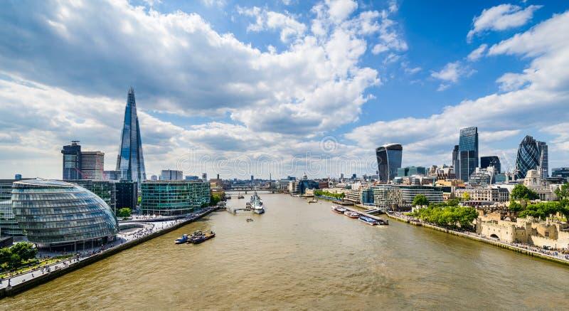Ορίζοντας του Λονδίνου, UK στοκ εικόνα με δικαίωμα ελεύθερης χρήσης