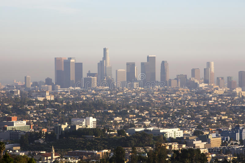 Ορίζοντας του Λος Άντζελες στοκ φωτογραφία